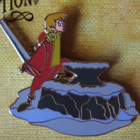 Disney Pin - Sword in the Stone Arthur with Sword Slider Limited Edition Pin