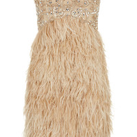 Ditta - Champagne Feather Prom Dress