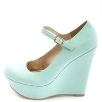 PLATFORM MARY JANE WEDGE