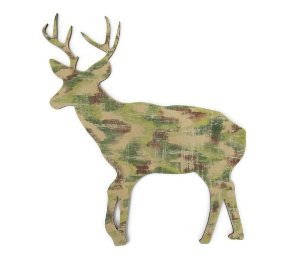 Camouflage Buck Wall Decor Rustic Cabin From FischerFineArts