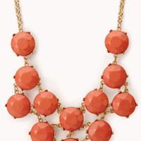 FOREVER 21 Heirloom Faux Stone Necklace Gold/Coral One