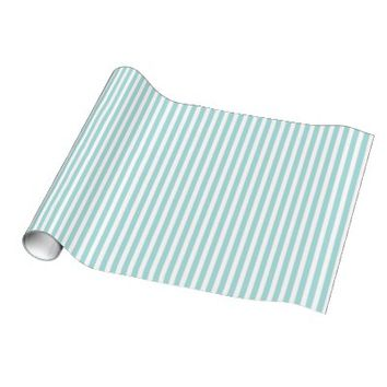 Tiffany Blue & White Striped Pattern