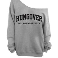 Slouchy Oversized Sweater - Hungover - Gray