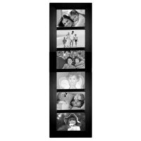 Malden 2012-664 Berkeley 4 by 6 Beveled Wood Edge 6 Opening Collage Frames, Black