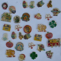 McDonald Employee Pin Lot Of (32) Items (28) Different (1) Missing Back Clip Christmas, Easter, Halloween  St. Patrick`s Day Several From Cananda