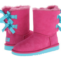 UGG Kids Bailey Bow (Big Kid) Princess Pink/Blue Curacao - Zappos.com Free Shipping BOTH Ways