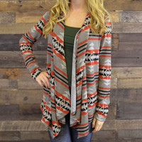 Elkhorn Tribal Striped Cardigan
