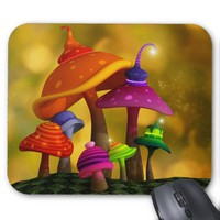 Whimsical Mushrooms Mousepad