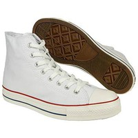 Athletics Converse Men's Chuck Taylor All Star Hi Optic White FamousFootwear.com