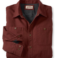 Water-Resistant Fleece-Lined Canvas Shirt, Traditional Fit: Flannel, Chamois and Lined   Free Shipping at L.L.Bean