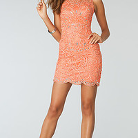 Short Sleeveless Beaded Dress by Atria