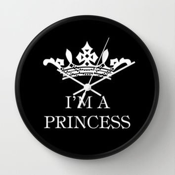 I'm a princess III Wall Clock by Louise Machado