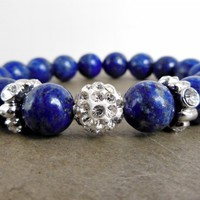 Lapis Lazuli Stacking Beaded Stretch Bracelet | WestWindCreations - Jewelry on ArtFire