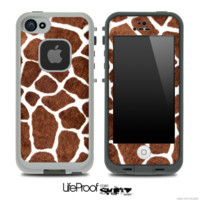 Real Giraffe Print Skin for the iPhone 5 or 4/4s LifeProof Case - iPhone