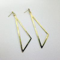 Triangle Life - Gold Colour Earings