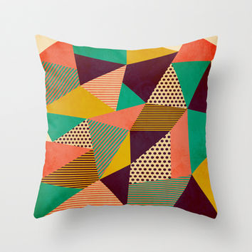 Geometric Love II Throw Pillow by Louise Machado