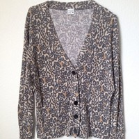 Brown Leopard Cheetah Print Button Up Cardigan By Full Tilt Size S