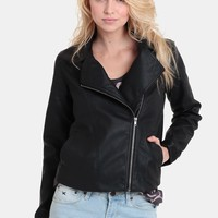 Adah Faux Leather Moto Jacket By BB Dakota