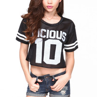 VICIOUS ATHLETIC CROP TOP