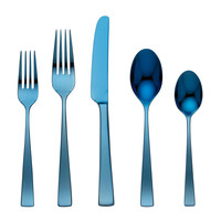 Gorham Argento Electric Blue 5-Piece Flatware Place Setting