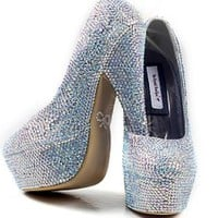 Crystal Embellished High Heels