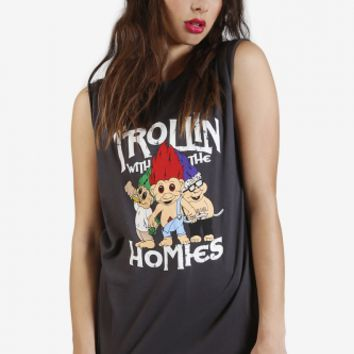 Trollin With The Homies Graphic Tank by Petals & Peacocks