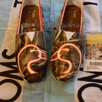 Custom Hand Painted Camo Toms