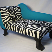 PETSY DECOR chaise lounge dog bed Zebra Print Fabric