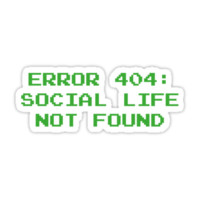 404 Error : Social Life Not Found