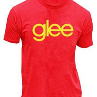 Glee TV Show Logo Red Mens T-shirt Tee