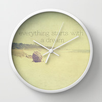 everything starts with a dream Wall Clock by ingz