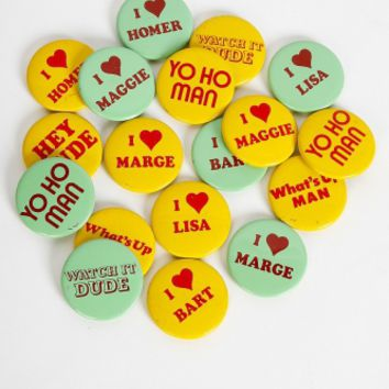 Reclaimed Vintage Throwback Pin Pack - One Size / Pack of 5