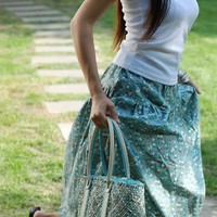 Charming elegant skirt artistic funky ethnic by xiaolizi on Etsy