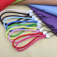 """10 Braided Leather Cell Phone Wrist Strap Lanyard 0.16"""""""