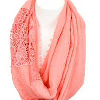 Lady in Lace Infinity Scarf