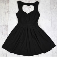 Queen of Hearts Black Cut Out Dress