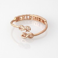 Best friend open rosegold ring
