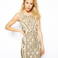 Needle & Thread Geo Sundown Mini Dress