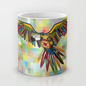 harlequin parrot Mug by Sharon Turner