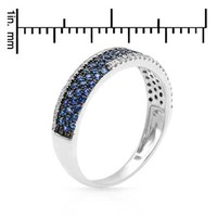 New VIDA 14K W/G Ring with 0.55 CTW Sapphires , Diamond - 			        	For Your Little One: Designer Pieces Shop