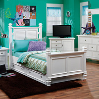 Belmar White 5 Pc Full Poster Bedroom