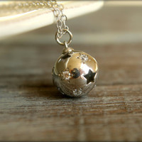 Starry Sphere Necklace in Sterling Silver