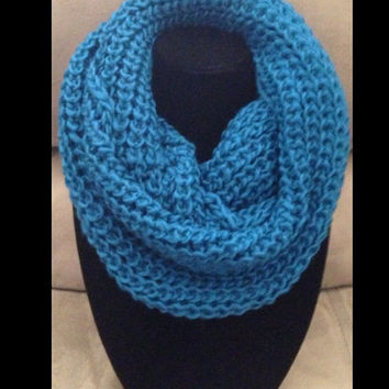 Winter SALE: BIG approx 12x24 Thick Solid Crochet Infinity Scarf