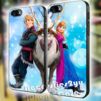 Disney Frozen Couple Anna and kristoff MJM iPhone 4, iPhone 4s, iPhone 5, iPhone 5s, iPhone 5c, Samsung Galaxy S3, Sasmsung Galaxy S4 Case