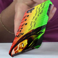 bob marley, quote 3D iPhone Cases for iPhone 4,iPhone 4s,iPhone 5,iPhone 5s,iPhone 5c,Samsung Galaxy s3,samsung Galaxy s4