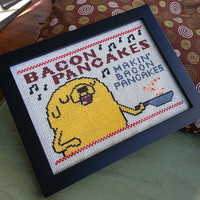 DIY Jake Bacon Pancakes digital cross stitch pattern