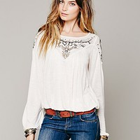 Blue Sky Banded Top