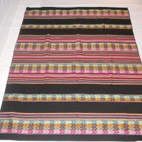 Aspenandes Pre-columbian Style Black Colorful Blanket