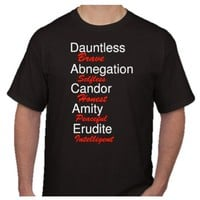 Divergent Movie Faction Definitions Unisex T-shirts