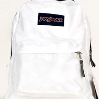 Back to School Super Saving - Jansport Classic Student Backpack in White Color and One High School Musical Coin Bag Set